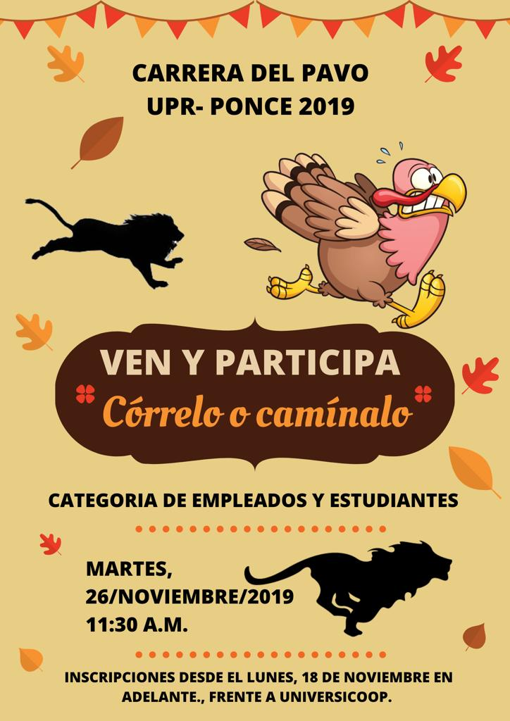 Inscripción Carrera del Pavo 2019