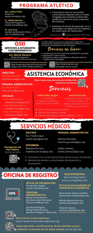 Guía Servicios Decanato de Estudiantes
