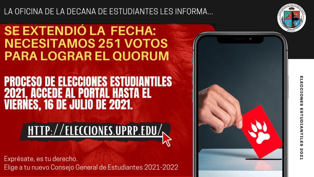 ELECCIONES ESTUDIANTILES 2021